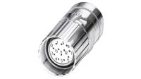 CA Stecker, Buchse, M23 zur Kabelmontage, 17-polig, Lötanschluss, M23, 10.0A, IP67