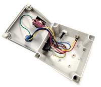 Gehäuse mit Not-Aus und Taster inkl. Netzschalter 125x125x115 mm