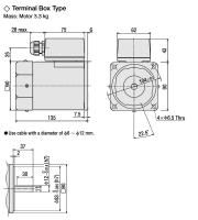 5IK90A-SWT, 90 Watt, 230V3AC Drehstrommotor mit...